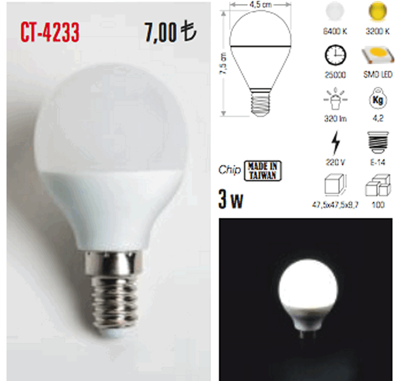 CT 4233 LED AMPÜL -CT 4233 LED AMPÜL